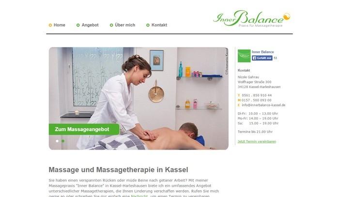 Inner Balance Kassel: Nicole Gahrau präsentiert Ihre Praxis für Massagetherapie auf innerbalance-kassel.de
