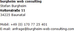 Kontaktdaten - burgheim web consulting